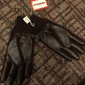 Men's black thick gloves